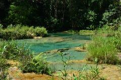 De Waterval Lanquin Guatemala van Semucchampey royalty-vrije stock foto