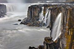 De waterval Selfoss in IJsland Stock Fotografie