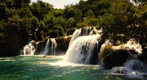 De waterval Skradinski Buk van Krka stock fotografie