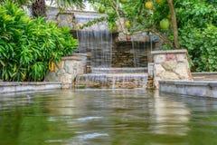 De waterval in tuin Royalty-vrije Stock Foto