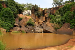 De waterval van Banfora Stock Afbeelding