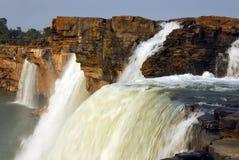De Waterval van Chitrakoot stock afbeeldingen