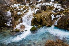 De waterval van de bergrivier Royalty-vrije Stock Foto