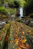 De Waterval van de herfst in Westelijk Noord-Carolina Stock Foto's