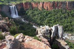 De Waterval van de Rivier van elandantilopen Stock Afbeelding
