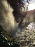 De waterval van de Thorntonkracht, ingleton dalingen Stock Foto's