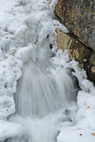 De waterval van de winter royalty-vrije stock foto