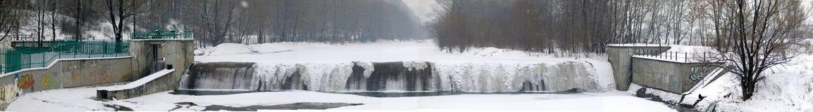 De waterval van de winter stock foto's