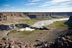 De Waterval van Dettifoss in IJsland Stock Afbeeldingen