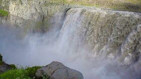 De Waterval van Dettifoss in IJsland stock video