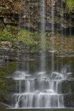 De waterval van Eira van Sgwdjaren, Brecon-Bakens Nationaal Park, Wales stock fotografie
