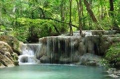 De Waterval van Eravan, Kanchanabury, Thailand stock foto