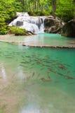 De Waterval van Eravan, Kanchanabury, Thailand Royalty-vrije Stock Foto's