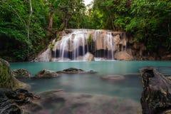 De Waterval van Erawan Stock Foto