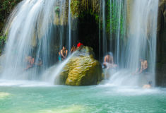 De Waterval van Erawan Stock Foto's
