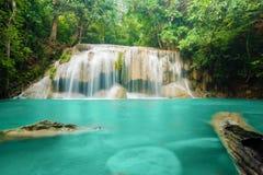 De Waterval van Erawan in Kanchanaburi, Thailand Royalty-vrije Stock Fotografie