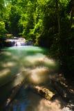 De Waterval van Erawan, Kanchanaburi, Thailand Stock Afbeelding