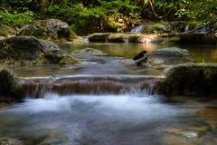 De Waterval van Erawan, Kanchanaburi, Thailand Royalty-vrije Stock Afbeeldingen