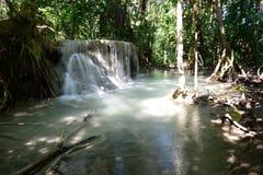 De Waterval van Erawan, Kanchanaburi, Thailand Royalty-vrije Stock Afbeelding
