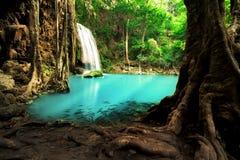 De Waterval van Erawan, Thailand Royalty-vrije Stock Afbeeldingen