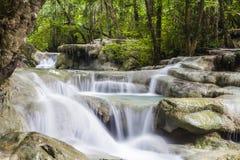 De waterval van Erawan in Thailand Royalty-vrije Stock Afbeeldingen