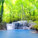 De Waterval van Erawan in Thailand Royalty-vrije Stock Fotografie