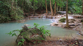 De Waterval van Erawan in Thailand Royalty-vrije Stock Foto's