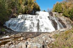 De waterval van Fraser in La Malbaie, Canada stock fotografie