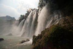 De waterval van Gioc van het verbod in Vietnam Royalty-vrije Stock Foto's