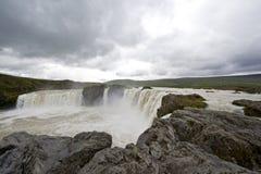 De Waterval van Godafoss Stock Foto's