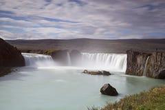 De waterval van Godafoss in IJsland stock afbeeldingen
