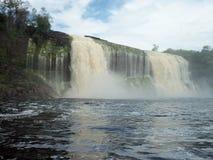 De waterval van Gr Hacha, het Nationale Park van Canaima, BolÃvar-staat, Venezuela stock foto's