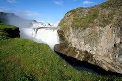De waterval van Gulfoss, IJsland Royalty-vrije Stock Afbeelding
