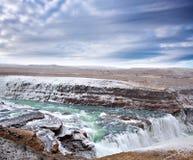 De waterval van Gulfoss in IJsland Royalty-vrije Stock Afbeelding