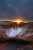 De waterval IJsland van Gullfoss Stock Afbeeldingen