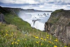 De Waterval van Gullfoss in Icelad Royalty-vrije Stock Foto's