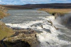 De waterval van Gullfoss, IJsland Stock Foto