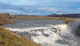 De waterval van Gullfoss, IJsland Stock Fotografie