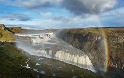 De waterval van Gullfoss, IJsland Royalty-vrije Stock Afbeelding