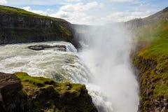 De waterval van Gullfoss in IJsland stock afbeeldingen