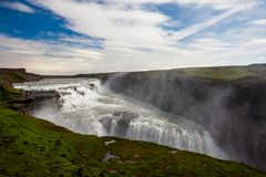 De waterval van Gullfoss in IJsland stock fotografie