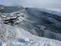 De waterval van Gullfoss, IJsland Stock Foto's