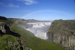 De Waterval van Gullfoss, IJsland Royalty-vrije Stock Afbeeldingen