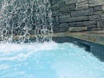 De waterval van het kuuroordcentrum Stock Foto