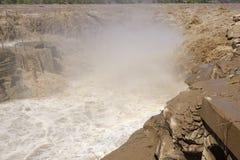 De Waterval van Hukou stock foto