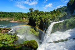 De Waterval van Iguazu in Argentinië Stock Foto