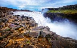 De Waterval van IJsland Detifoss Stock Fotografie