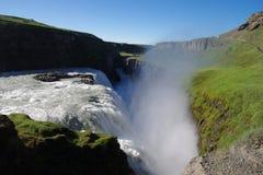 De waterval van IJsland Gullfoss royalty-vrije stock afbeelding