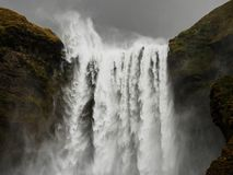 De waterval van IJsland van Skogafoss royalty-vrije stock fotografie