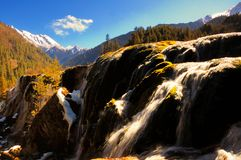 De waterval van Jiuzhaigou Stock Foto